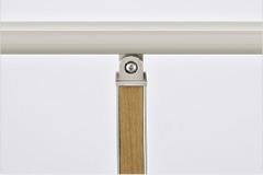 笠木=シャイングレー、角柱=シャイングレー+チェリーウッド