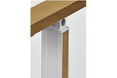 アルミ形材色+マテリアルカラーにした場合の見え方 ※マテリアルカラーは前後の2面です。 ※コーナー柱は、1面のみです。