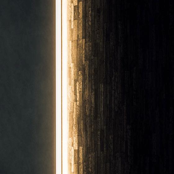 空間を引き立てる、光の演出。「タテライン照明」