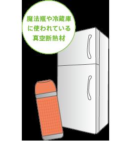魔法瓶や冷蔵庫に使われている真空断熱材