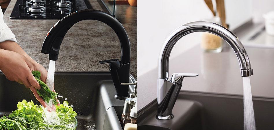 キッチン用水栓金具 「ナビッシュ」|LIXIL