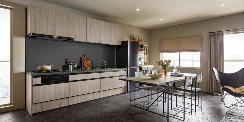 PLAN3 オープン対面キッチン アイランド型
