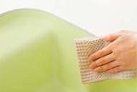 掃除のしやすい滑らかなコーナー。溝や段差がないので汚れが簡単に拭き取れます。