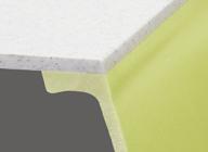 継ぎ目の無いシームレス仕上げ排水口も一体成型のシンプルなデザインです