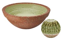 信楽 / 炎色ビードロ釉 信楽伝統の風合いで、内側と外側で表情が違います。