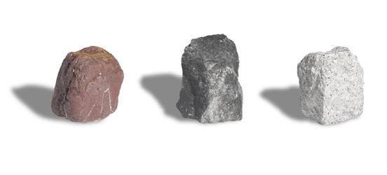 表面には長期間色落ちしない天然石をコーティングしています。