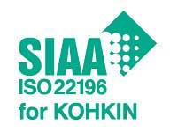 SIAA ISO 22196 for KOHKIN