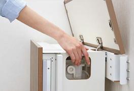 停電時は手動で水を流せる設計