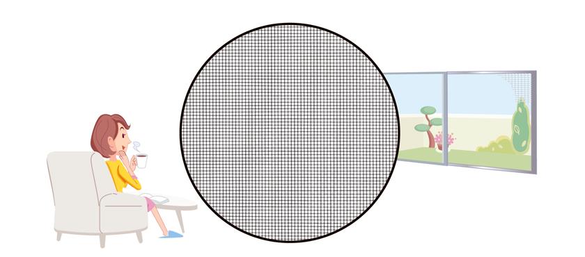 4つの機能で窓辺の快適さアップ。
