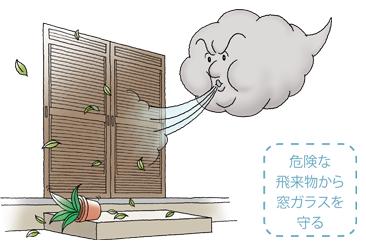 台風・強風からしっかり守る!