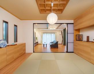 ひろがりのある和室。の写真