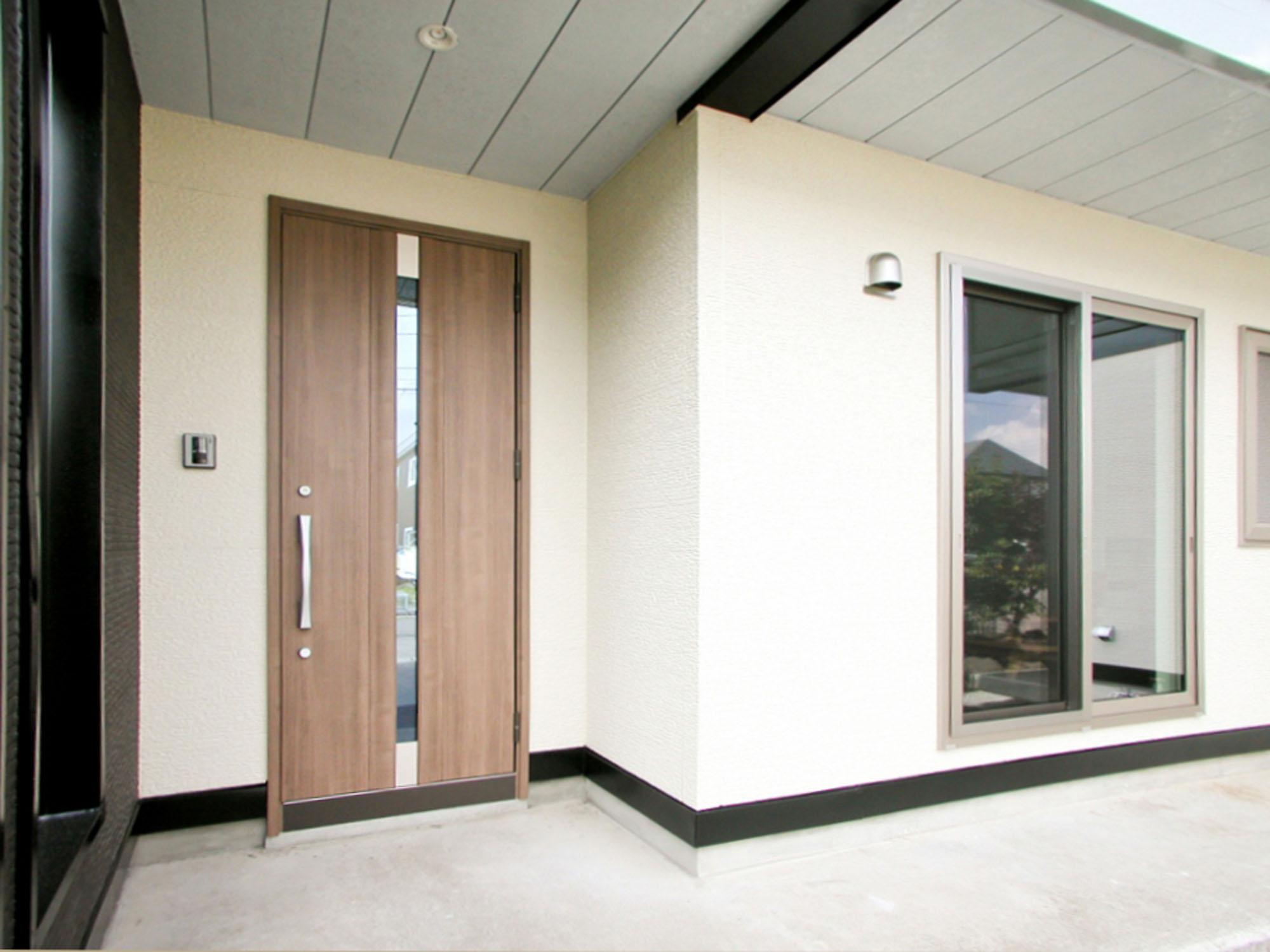 シンプルで美しい玄関。の写真