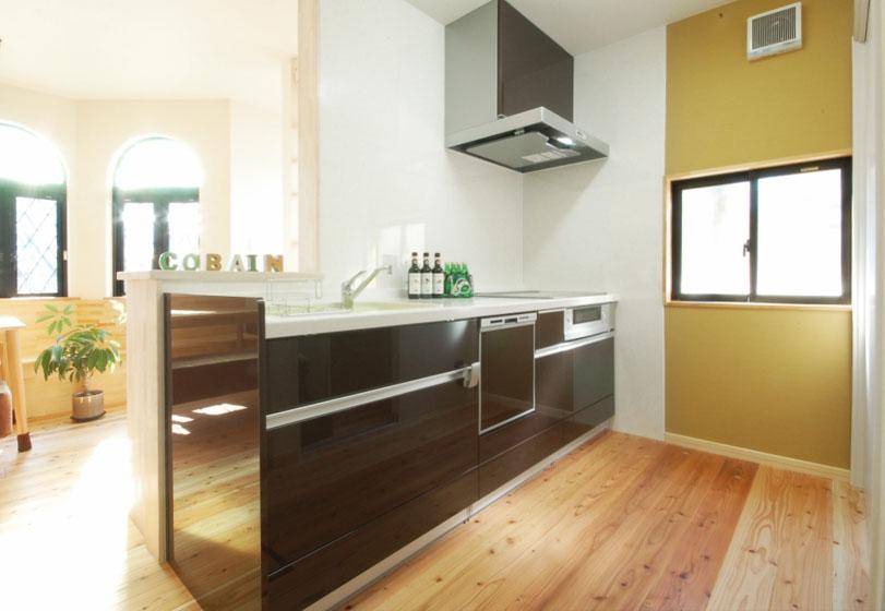 開放的なキッチン。の写真