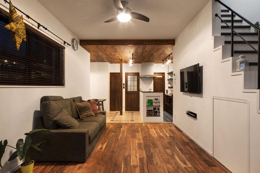 壁と床と天井。の写真