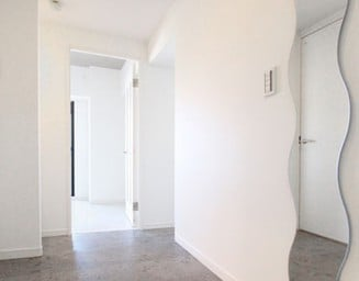 玄関の鏡。の写真