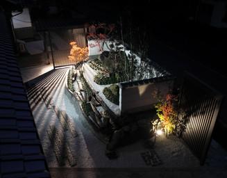 夜のライトアップ。の写真