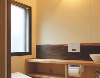 暖かいトイレ空間。の写真