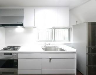 白いキッチン。の写真