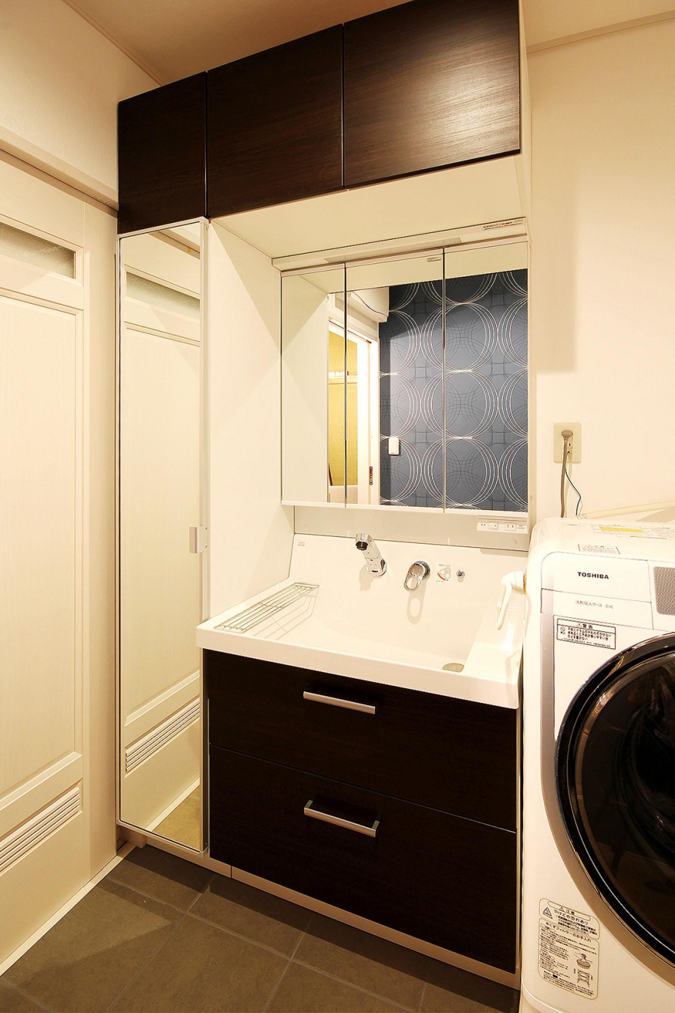スマートな洗面。の写真