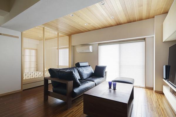 居間と小上がりの和室のいい関係。の写真