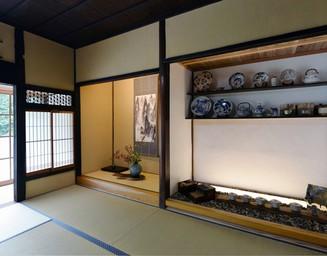 和室に展示スペースを。の写真