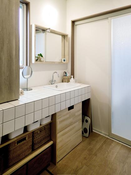 気持ちの良い洗面空間。の写真