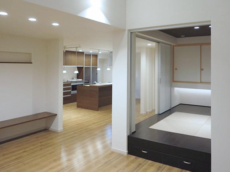 和室は空間のアクセント。の写真
