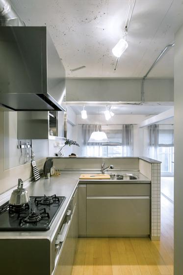 対面キッチンを実現させました。の写真