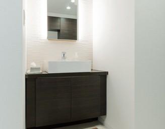 来客用の洗面。の写真