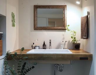 こだわりの洗面。の写真