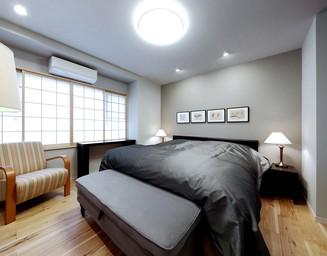 8畳の和室をフローリングの寝室に変更。の写真