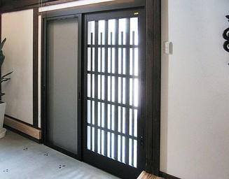 玄関にも風情。の写真