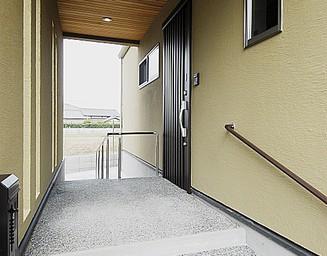 優しい玄関まわり。の写真