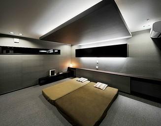 シックな寝室。の写真