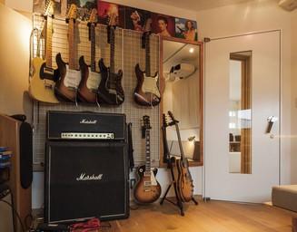 趣味の音楽のための完全防音室。の写真