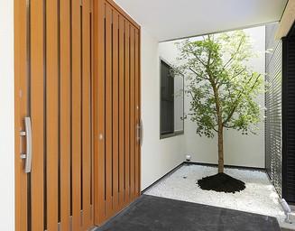 美しい玄関。の写真
