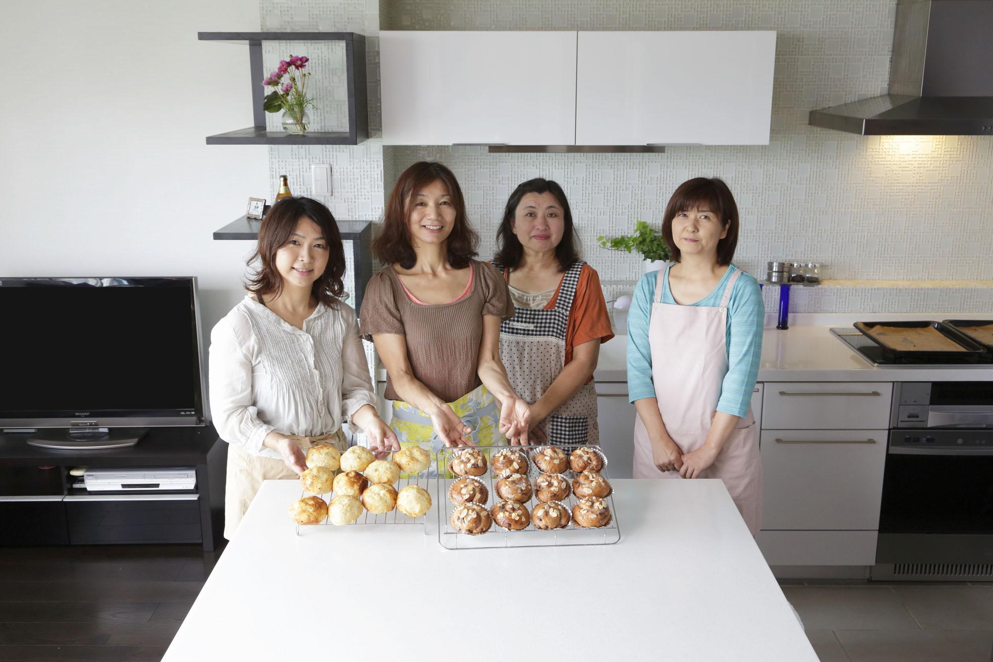 キッチン空間に笑顔がひろがります。の写真