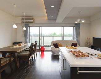 心地よい多摩川の風景を望めるマンションリフォーム。の写真