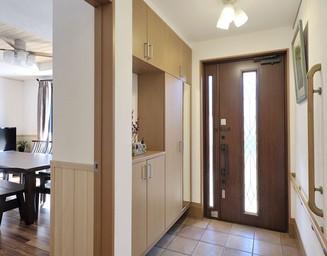 南の玄関。の写真