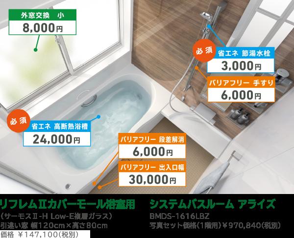 リフレムⅡカバーモール浴室用/システムバスルーム アライズ