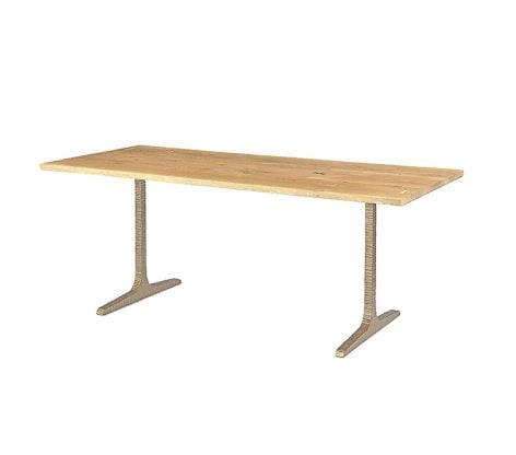 T LEG DINING TABLE